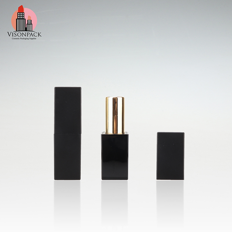 Black Square Cosmetic Magnetic Lipstick Tube Bulk Sale Visonpack